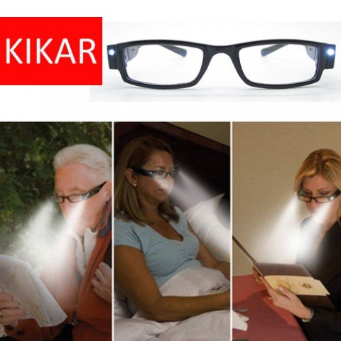 Kikar + 3.00 Unisex Gafas Lectura luz LED carcasa