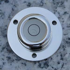 Sola niveau à bulle sphérique en laiton nickelé avec pied à visser ø 30 x 11 mm
