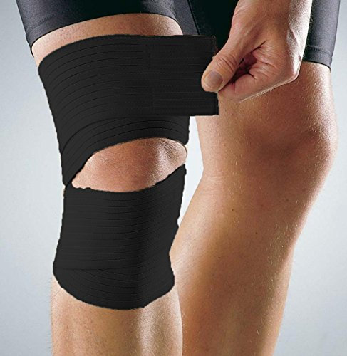 Calf-Compression-Wrap-Stabilizer-Support-Strap-Bandage-Strain-Sprain-Joint-High-Elasticity-for-Running-Jogging-Walking-Crossfit-and-Fitness-Athletes-Black