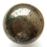 1pc massiccio lucido Pirite pietra sfera uovo Cuore Craft guarigione Home Decor sphere 2.35''