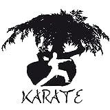 Wadeco Karate 1 Wandtattoo Wandsticker Wandaufkleber 35 Farben verschiedene Größen, 80cm x 70cm, flieder