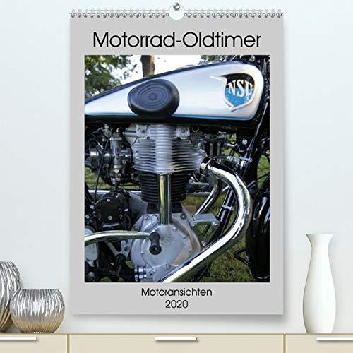 Motorrad Oldtimer - Motoransichten (Premium-Kalender 2020 DIN A2 hoch): Motoransichten von Oldtimermotorrädern (Monatskalender, 14 Seiten ) (CALVENDO Hobbys)