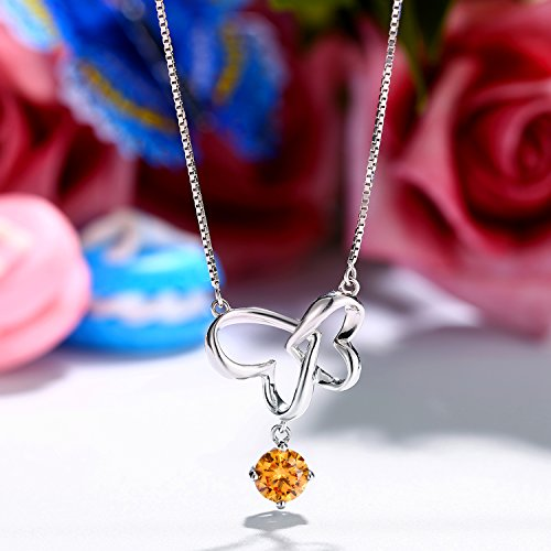 """♛J.Rosée♛ Necklace """"Never Be Apart"""" 925 Sterling Silver and Platinum 3A Zirconia 45cm+5cm(18in+2in) for Lady Beloved with Exquisite Gift Package"""