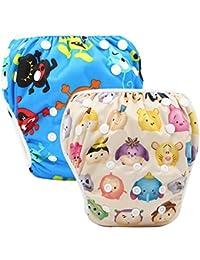 Storeofbaby Baby Swim Pañales pañales reutilizables cubierta impermeable para 0-36 meses Pack unisex de 2