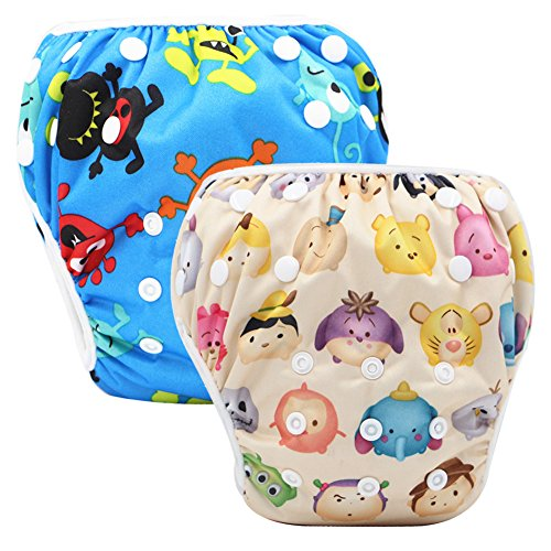 Storeofbaby-Baby-Swim-Paales-paales-reutilizables-cubierta-impermeable-para-0-36-meses-Pack-unisex-de-2