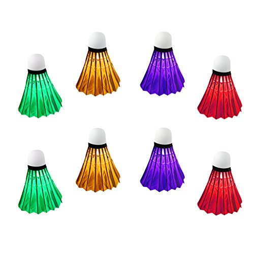 sortiert Badminton Bälle LED Federball-Ersatzbälle