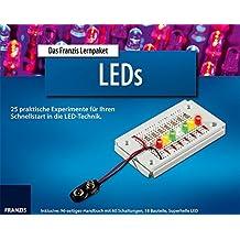 FRANZIS Lernpaket LEDs: 25 praktische Experimente für Ihren Schnellstart in die LED-Technik. Inklusive: 96-seitiges Handbuch mit 60 Schaltungen, 18 Bauteile, superhelle LED.