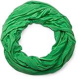 styleBREAKER Jersey Loop Schlauchschal in Crash Optik/Unifarben / elastisch (Grün)