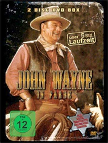 John Wayne Edition (2 DVD Metallbox) : Feuerwasser und frische Blüten - Der geheimnisvolle Reiter - Winde der Wildnis - Gestohlene Ware - Goldgier - Gold in den Hügeln