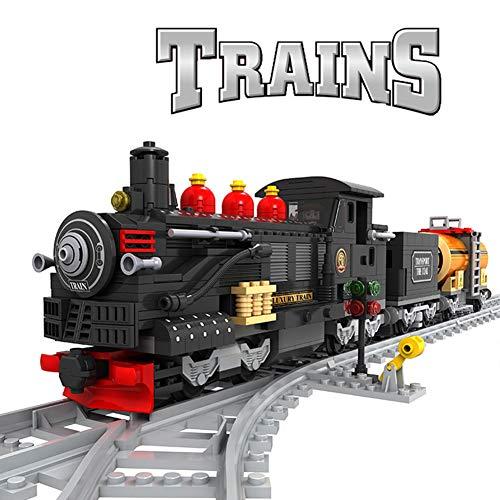 HLDX 586 + pcs Zug Spielzeug mit spur Jungen und mädchen Puzzle Montage bausteine   Spielzeug Technologie Stadt Serie (Mit Spuren Zug Spielzeug)