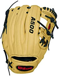 "Wilson Sporting Goods Co. A500 11"" Right-hand baseball glove Infield 11"" Marrón - guantes de béisbol"