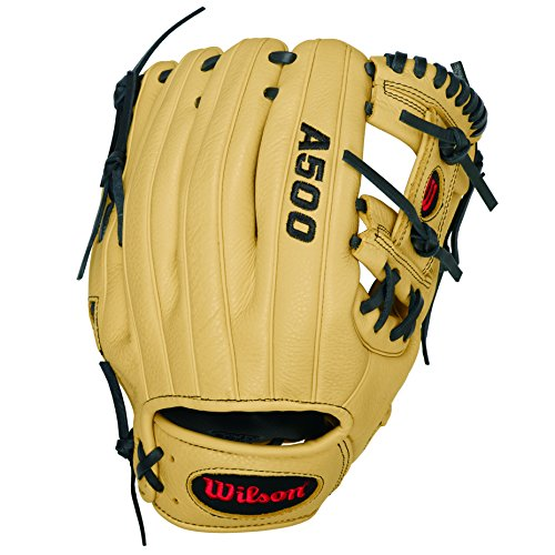 WILSON Handschuhe A500 GLOVE, Black/Blonde, 11.5, A500 GLOVE