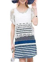 Vestidos Wen Amazon Bo Playa Jin Blanco Zhao es fwqaR5