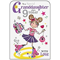 Granddaughter 9th Birthday Card