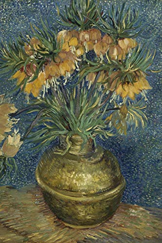 Art Journal: Imperial Fritillaries in a Copper Vase - Vincent van Gogh Art Cover College Ruled Notebook | 110 Pages Imperial Vase
