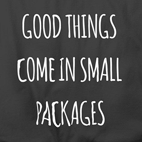 Divertente Sacchetto Di Tote Le cose buone arrivano in piccoli pacchetti Slogan brevi Persone Natural