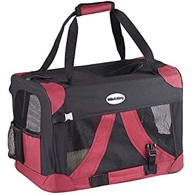 Milo & Misty Fabric Pet Carrier - Lightweight Travel Seat for Dogs, Cats, Puppies - Made of Waterproof Nylon and a Durable Steel Frame from Domu Brands