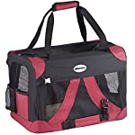 MILO & MISTY Fabric Pet Carrier - Lightweight Folding Travel Seat for Dogs, Cats, Puppies - Made of Waterproof Nylon and… 10