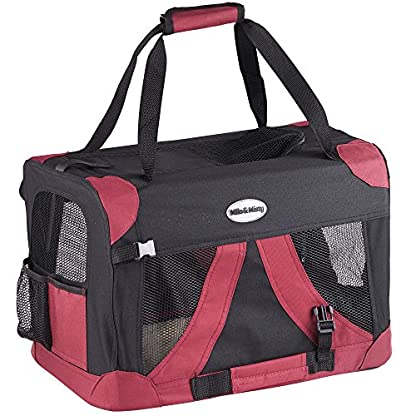 MILO & MISTY Fabric Pet Carrier - Lightweight Folding Travel Seat for Dogs, Cats, Puppies - Made of Waterproof Nylon and… 1