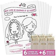 WEDDNG Livre de coloriage de Mariage pour Enfants DINA5   28 Pages  coloriage + Puzzles conçus 9935e544da6