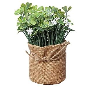 Laat – Flores artificiales para el hogar en maceta de estilo rústico, también para bodas, morado, 7.5*16.5cm