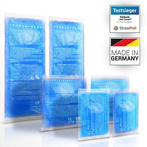 TESTSIEGER: SEHR GUT - Lacari ® [6x] Kalt & Warm Kompresse aus Gel - Optimal Geeignet für die Mikrowelle & den Gefrierschrank - Made in Germany