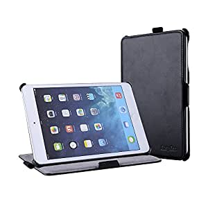 EasyAcc® ipad mini 3 / iPad mini Retina Display / iPad mini Hülle mit Standfunktion / Wake up / Handlicher Halter / Handschlaufe für iPad mini / iPad mini mit Retina Display -Kunstleder, Schwarz