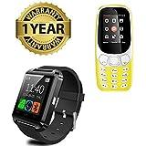 [Sponsored]MacBerry Dual Sim Phone With Camera & Bluetooth U8 Smartwatch For Apple Iphone Samsung Lava Oneplus 5 Redmi Note 4 Lenovo Oppo Vivo All Smart Phones
