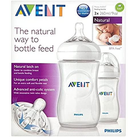 Avent Botella De 260ml + 1Mth Naturales (2) (Paquete de 2)