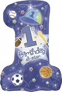 Amscan International First Birthday All Star-Ballon en aluminium en forme de camion