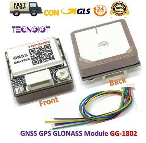 TECNOIOT GG-1802 Dual GNSS Receiver GPS GLONASS Module Antenna NEO-M8N Solution UART...