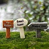 yixuan 3PCS Kunstharz Miniatur Figuren Micro Landschaft DIY Toy Fairy Garden Ornaments
