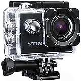 Action Kamera WIFI 2,0 Zoll, VTIN Full HD 1080P Sport Action Camera Cam Wasserdicht 170 ° Weitwinkel mit 2 Verbesserten Batterien und Zubehör Kits