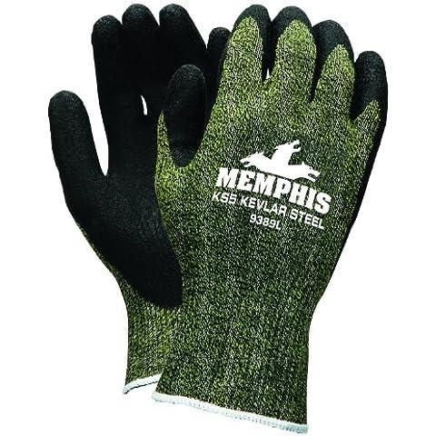 Seguridad MCR 9389S KS-5 protegimus calibre 13/acero inoxidable guantes látex Dip hombres palma y dedos, negro, pequeño, 1-par por seguridad