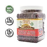 Pride Of India indian intero scuro fagioli proteine e ricco rajma fibra, vaso 1.5 libbra