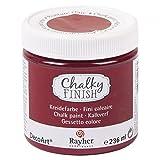 RAYHER HOBBY 38868297 Chalky Finish auf Wasser-Basis, Kreide-Farbe für Shabby-Chic-, Vintage- und Landhaus-Stil-Looks, 236 ml, burgunder