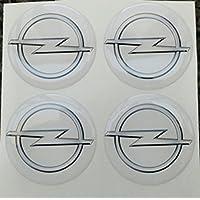 50 mm blanco Tuning Efecto 3d 3 m resinato coprimozzi Tachuelas Caps pegatinas stickers para círculos