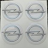 50mm weiß Tuning Effekt 3d 3m geharzt Radkappen Nieten Caps Aufkleber Stickers für Alufelgen X 4Stück