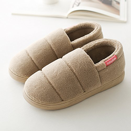 DogHaccd pantofole,La sig.ra cotone pantofole scarpe invernali con spessi pacchetto per le coppie home soggiorno con una calda piscina antiscivolo pantofole di lana maschio Brown4