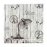 Multi-wallpaper Vintage Nachahmung Holz Korn Graffiti Board Coffee Shop Bekleidungsgeschäft PVC-Tapete, grau
