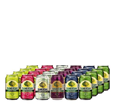 Somersby Cider Pear, Red Rhubarb, Blackberry, Elderflower Lime, Blueberry und Apple 4,5% vol. (24 x 0.33 l)