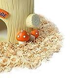 Hamster Maison de Résine Petit Animal de compagnie Gerbille Nid Chambre de Repos Ornement - Souche d'Arbre