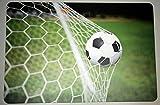Schreibtischunterlage Fußball im Tor / Netz Ball Fußballspiel WM Rasen 40 x 60 cm abwischbar PVC