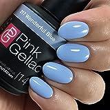 Pink Gellac UV Nagellack 217 Wonderful Bue. Professionelle Gel Nagellack shellac für mindestens 14 Tage perfekt glänzende Nägel