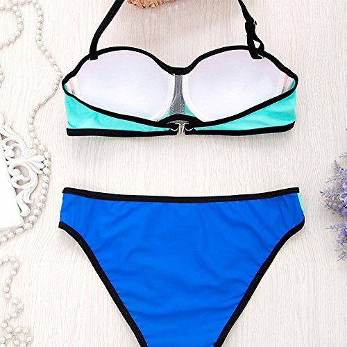 Surker Fashion Triangle Bikinis Bademode Frauen-Bikini-Badeanzug Push-Up-Qualit?ts-Bikinis eingestellt gutes Geschenk 2