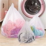 Wäschesack für Waschmaschine (3er-Set) - ideal für empfindliche Dessous, Kleider Unterwäsche Socken Mesh Wäschebeutel Wäschesäcke Wäschenetz mit Zugkordel für die Waschmaschine