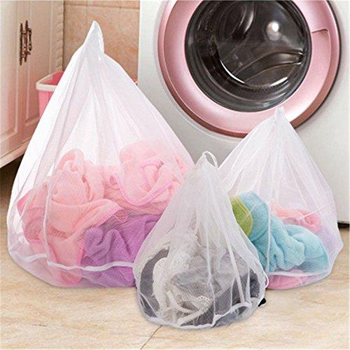 Wäschesack für Waschmaschine (3er-Set) - ideal für empfindliche Dessous, Kleider Unterwäsche Socken Mesh Wäschebeutel Wäschesäcke Wäschenetz mit Zugkordel für die Waschmaschine (Mesh-socke-tasche)