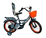 Hollicy Funtoosh 16 Plastic Bicycle, Kids 16-inch (Matt Blue/Orange)