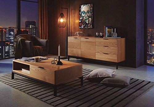 Dugar Home Decoración Beltrán Tables de Centre Style Industriel - Table Manhattan rectangulaire (120 x 60)