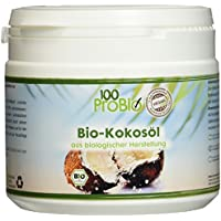 100ProBio Kokosöl nativ 500ml PE-Becher -Ideal für Haut & Haare- 100% reines Kokosöl ein natürliches  Öl ohne Zusatzstoffe